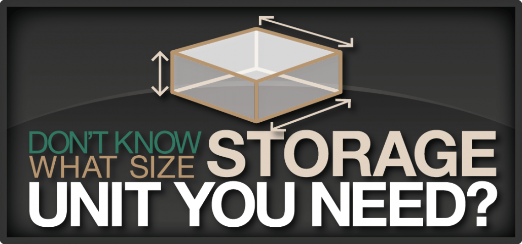 Don't know which storage unit size you need?
